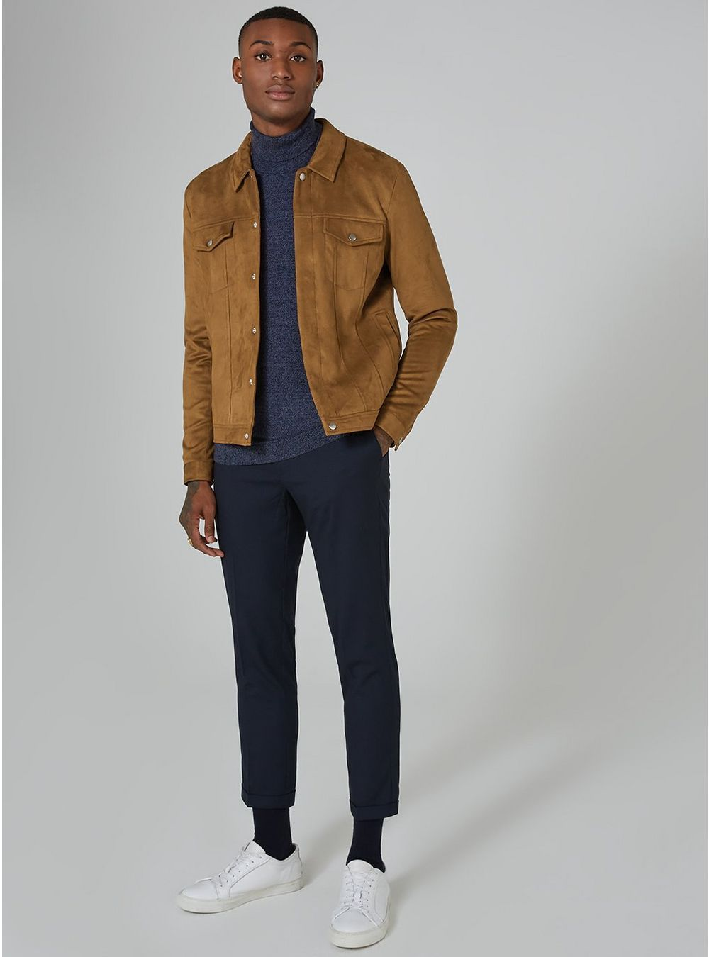 d1f75449 Tan Faux Suede Western Jacket - Men's Coats & Jackets - Clothing - TOPMAN