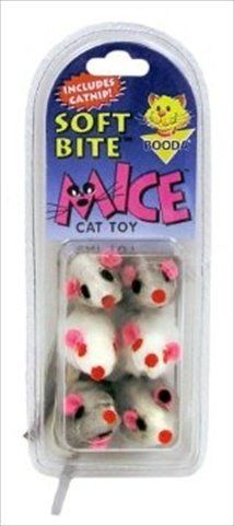 Petmate 58071 Natural Fur Mice Soft BiteTM CatToys 6 Count *** Click image for more details.