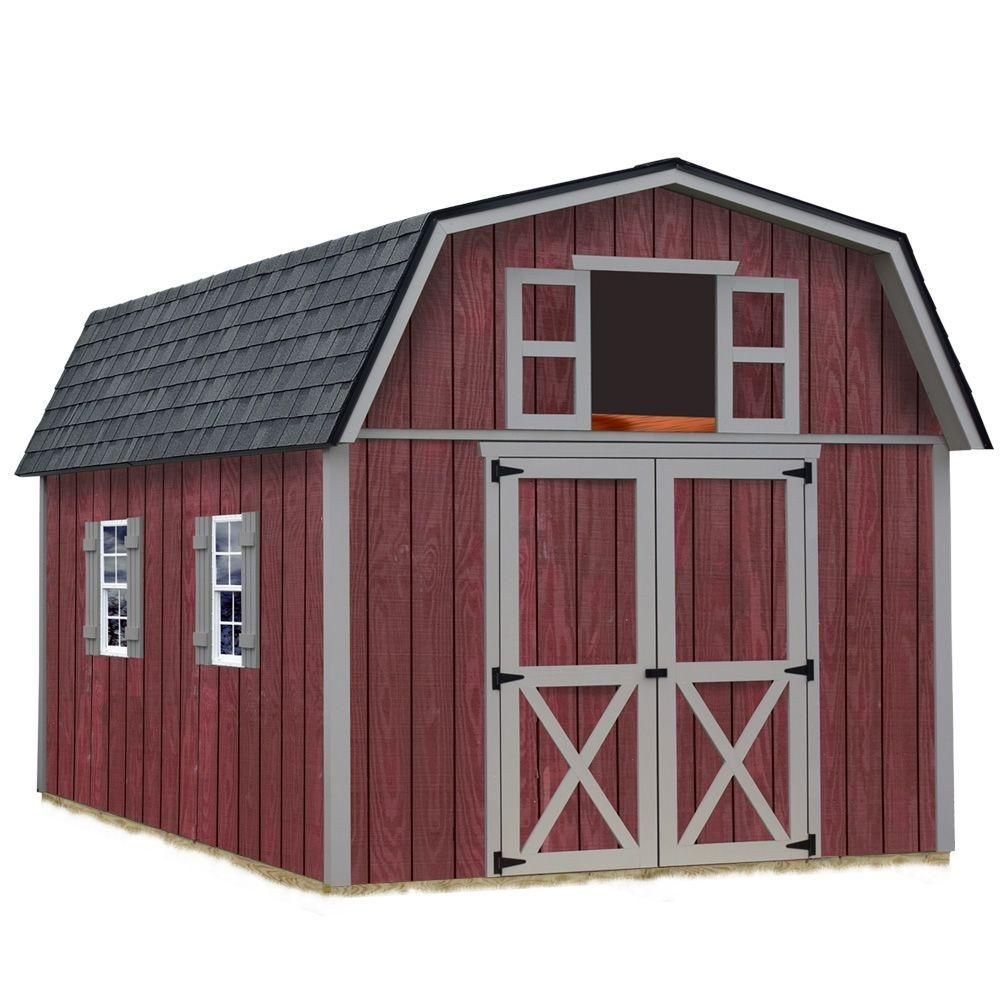 Best Barns Woodville 10 ft  x 12 ft  Wood Storage Shed Kit, Clear