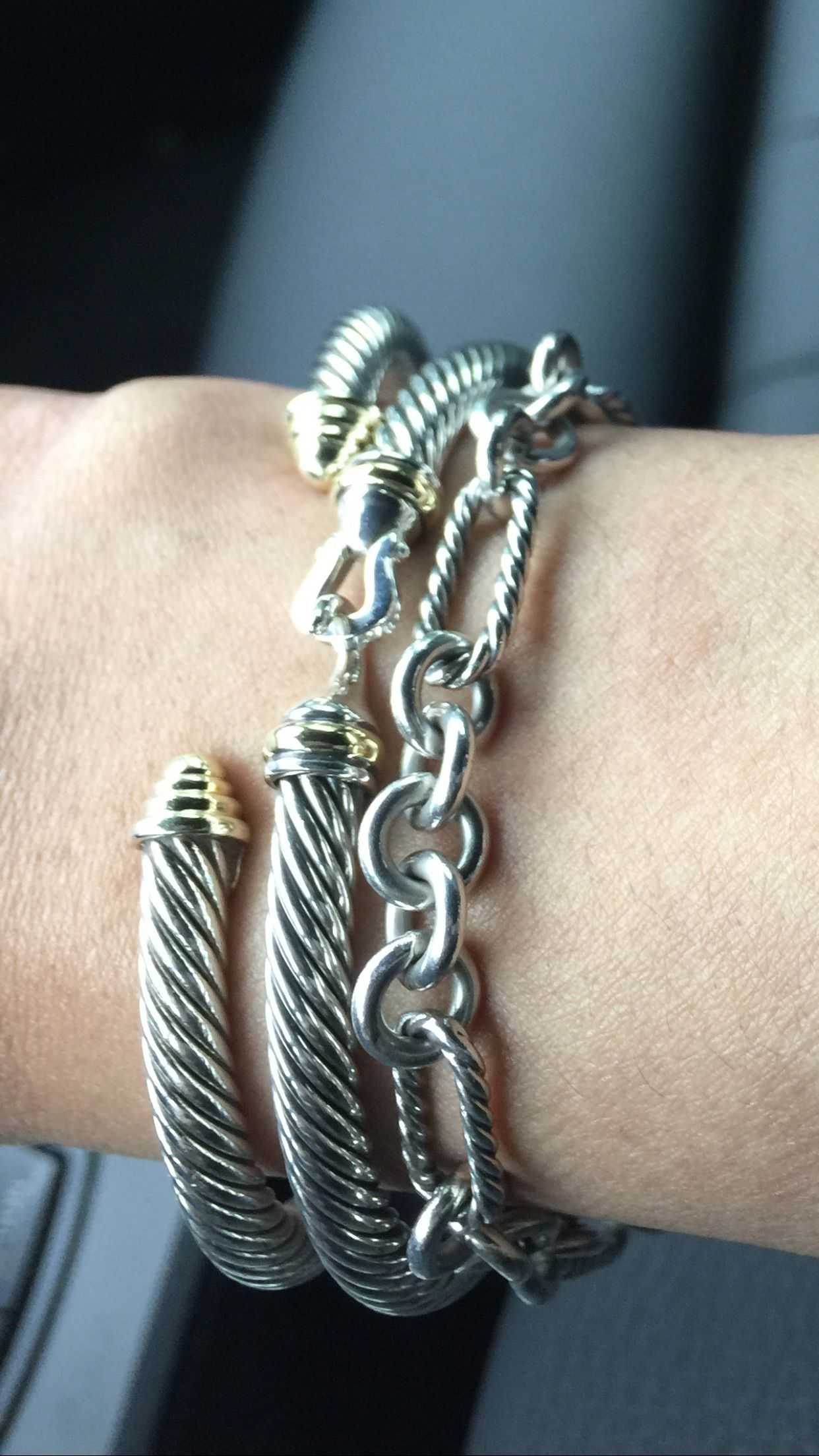 David Yurman Cable Bracelet Stack