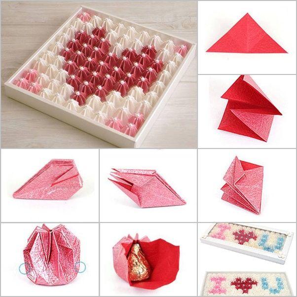 origami valentine chocolate gift box origamidobradura