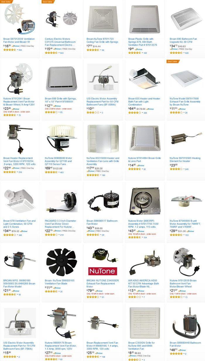 bath fan upgrade kit ventilation fans