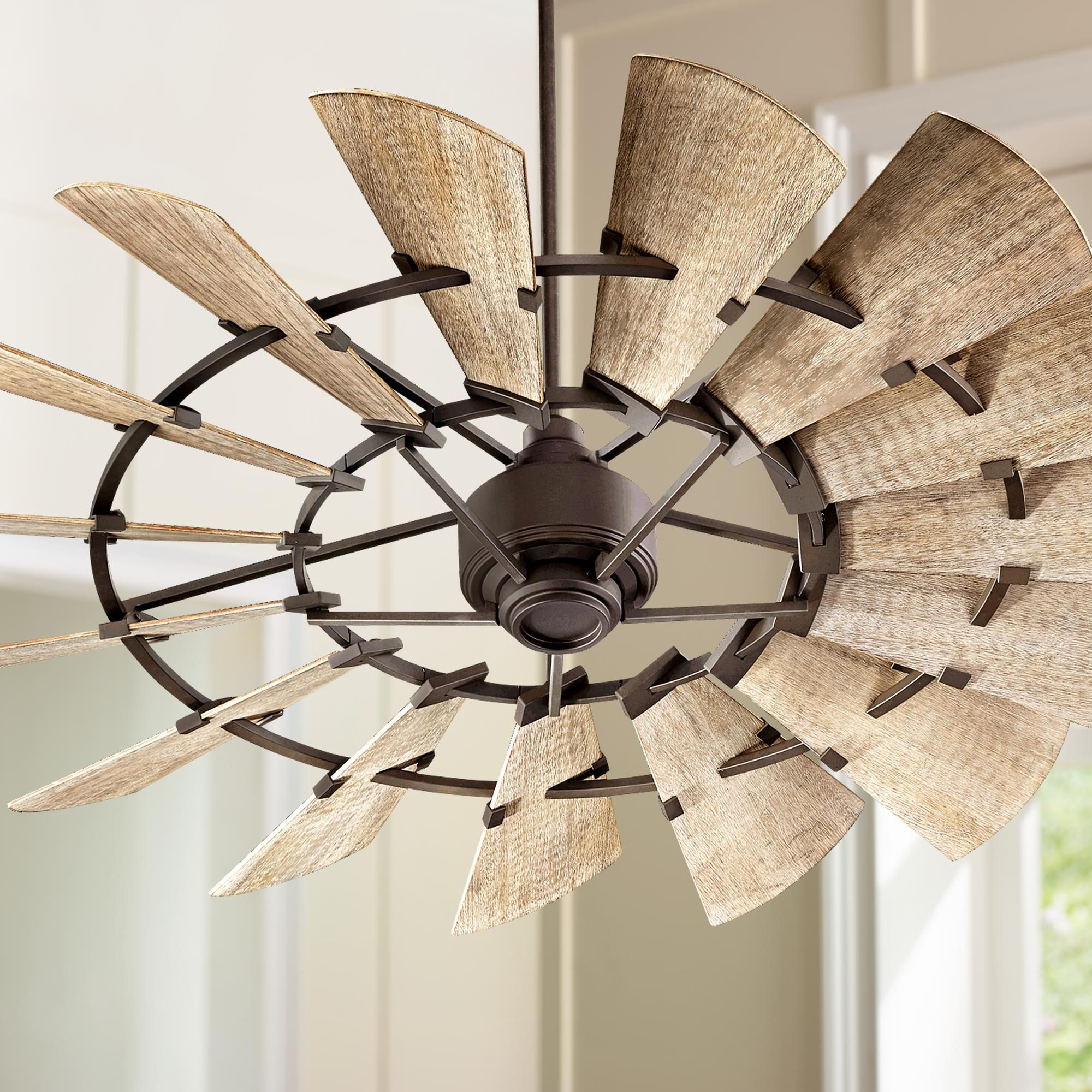 "60"" Quorum Windmill Oiled Bronze Ceiling Fan"