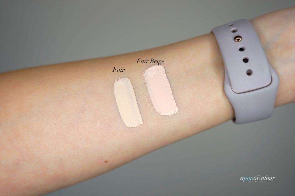 swatches of tarte cosmetics