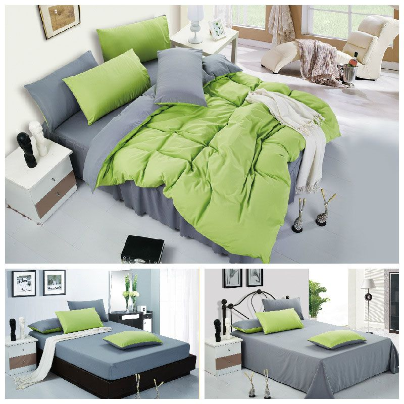 Home textile,solid bedding set king size 4pcs cotton bed linen comforter duvet cover set 4pcs bed sheet set free drop shipping $88.99 - 98.99