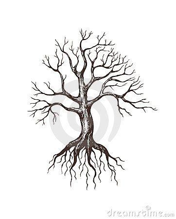 Big Leafless Tree Tree Roots Tattoo Roots Drawing Tree Drawing