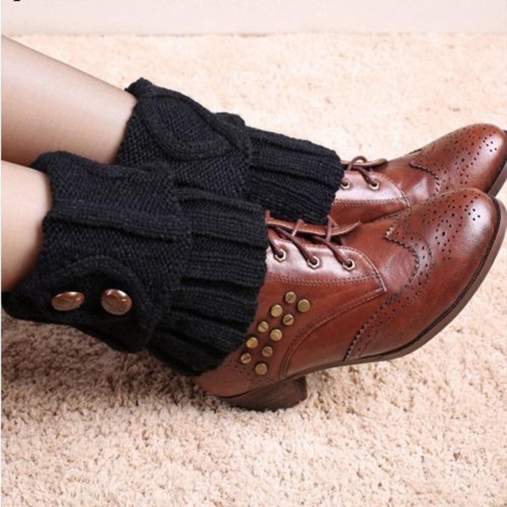 Knitted Topper Cuffs Women Socks
