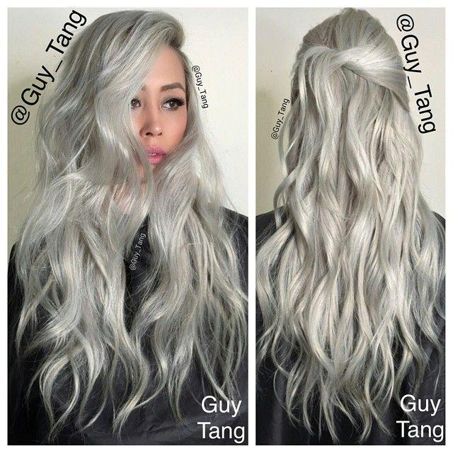 Granny Hair #greyhair #silverhair by Guy Tang