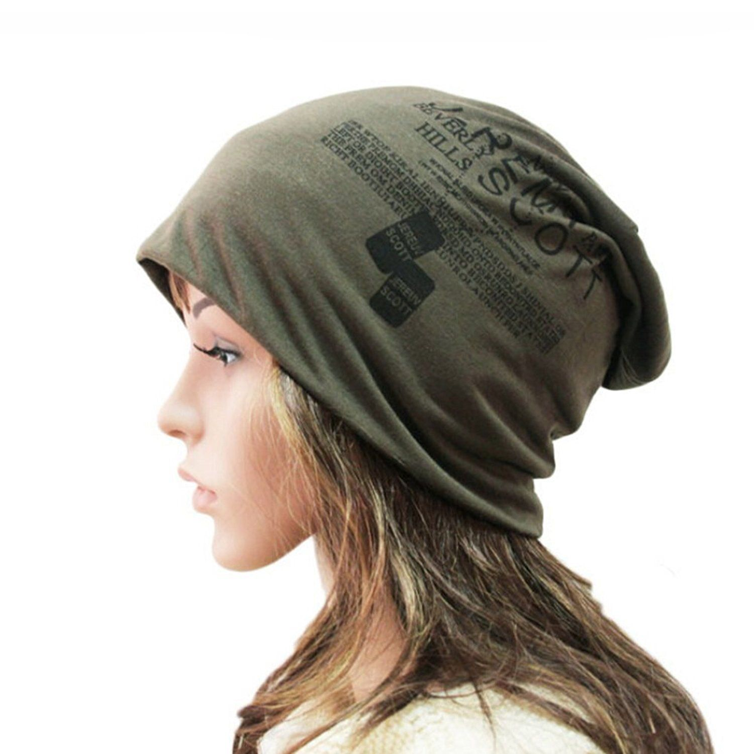fb03d5eaf7b Butterme Unisex Stylish Hip-Hop Hiphop Fashion Cap Cotton Knitted Slouchy Beanie  Hat Warm Soft Stretch Winter Slouch Army Green  Amazon.co.uk  Clothing