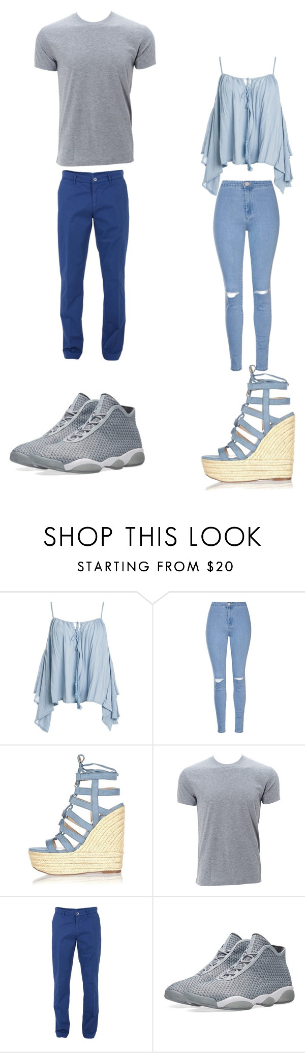 """""""Untitled #293"""" by kassidyrobinson on Polyvore featuring Sans Souci, Glamorous, River Island, Trussardi and NIKE"""