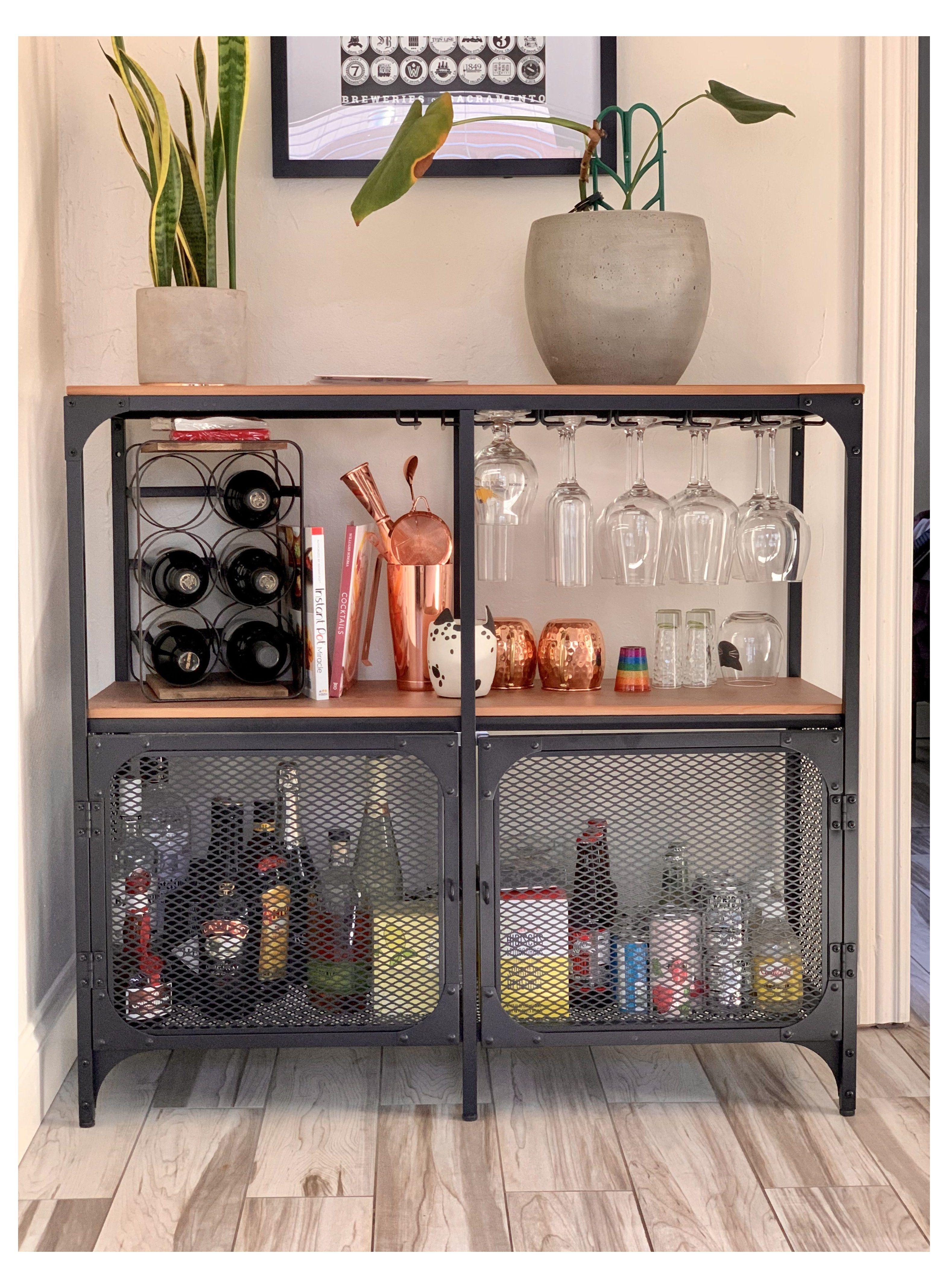 Fjallbo Ikea Desk Hack Fjallboikeadeskhack In 2021 Diy Home Bar Home Bar Decor Living Room And Dining Room Design [ 4272 x 3144 Pixel ]