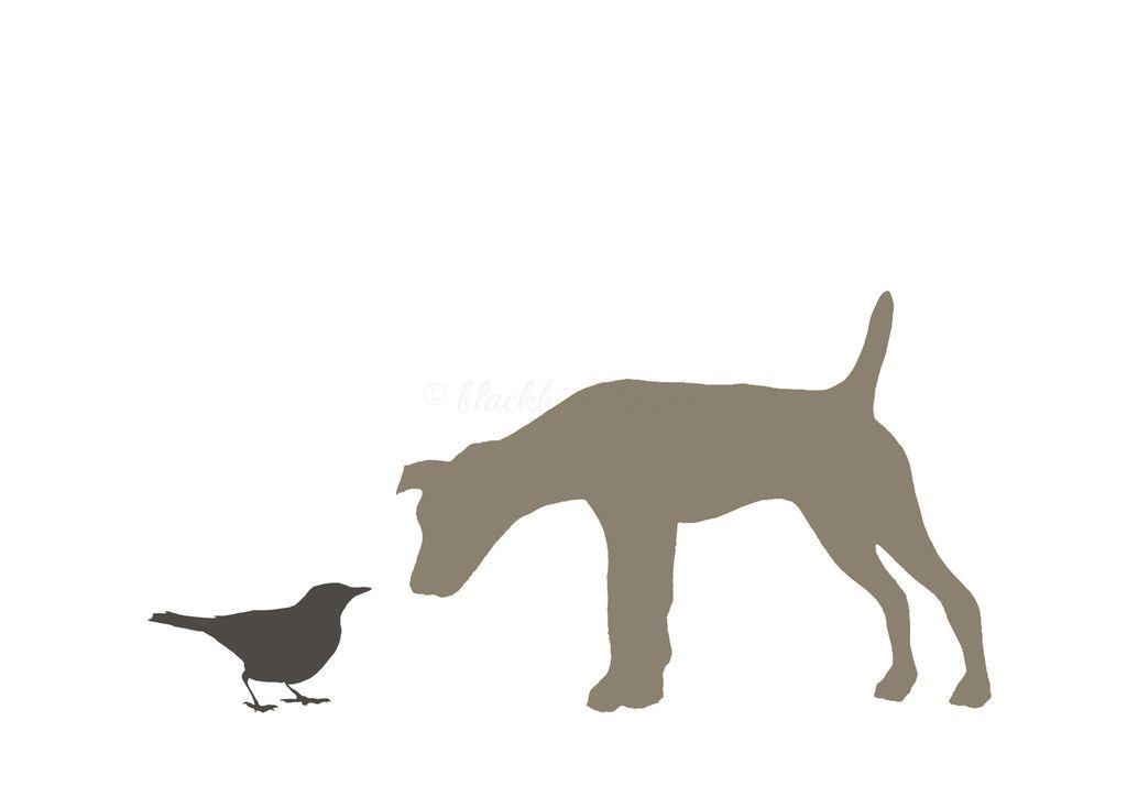 BLACKBIRD AND TERRIER PRINT.
