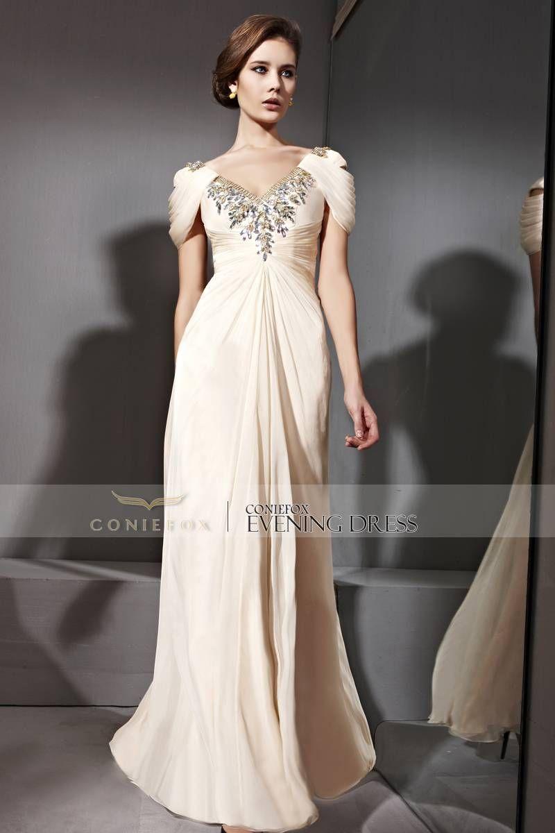 Mmmm elegant new arrival formal dresses sexy low v neck beige