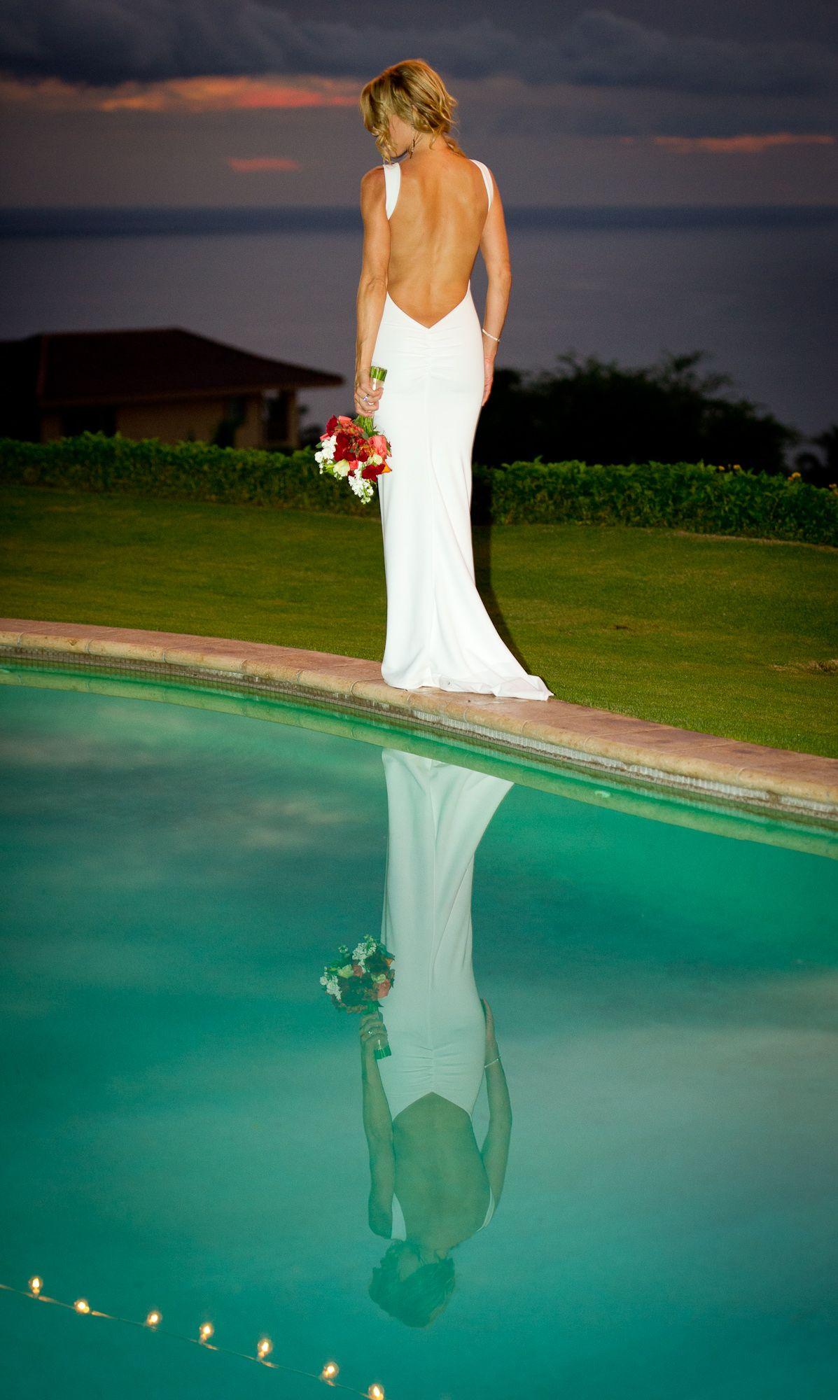 Simple backless wedding dress!