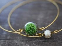 Real Moss Bracciale - 2 Pieces
