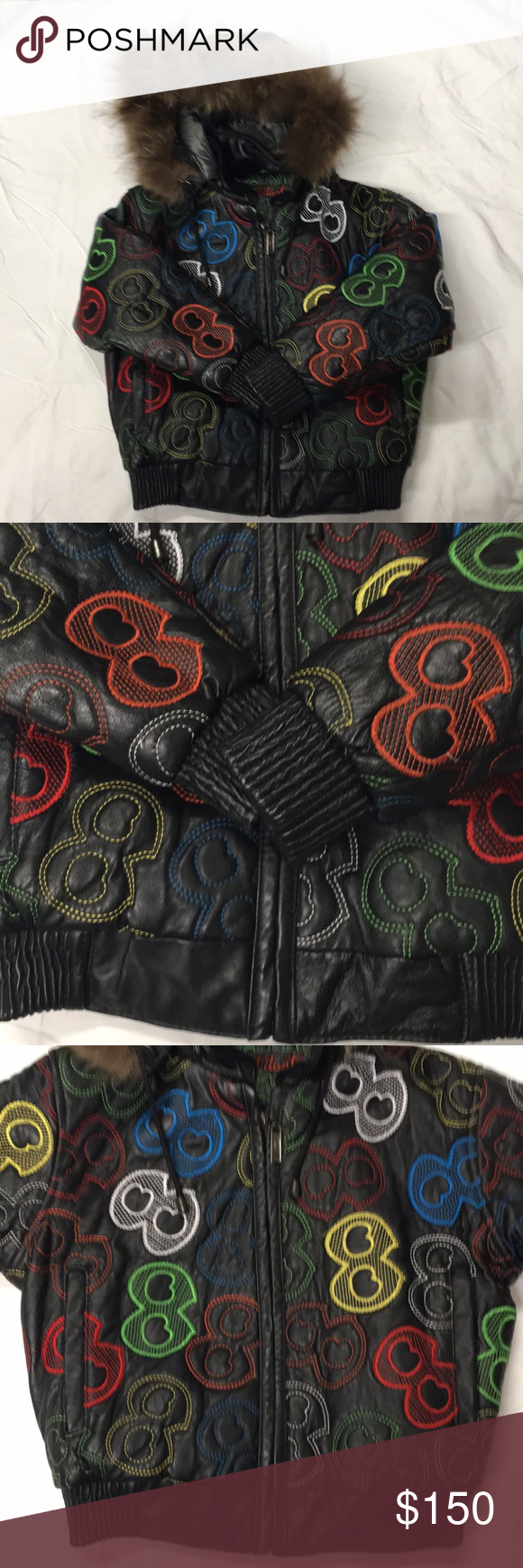 Boys Vilanto Leather Eightball Coat In Good Condition Can Be Worn With Or Without Hood Real Leather Vilanto Jackets Coats Leather Clothes Design Fashion [ 1740 x 580 Pixel ]