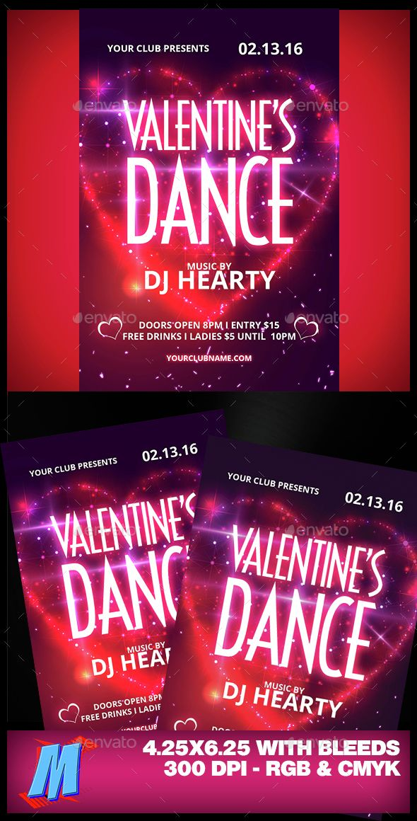 Valentines Dance Flyer Template Flyer template, Template and - benefit flyer template
