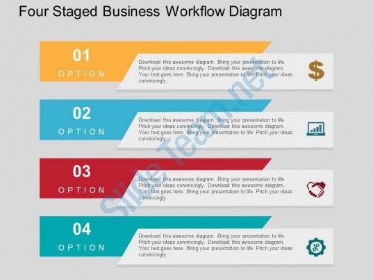 Four staged business workflow diagram flat powerpoint design 1 flow process flat powerpoint templates designs and diagram ppt slides toneelgroepblik Choice Image