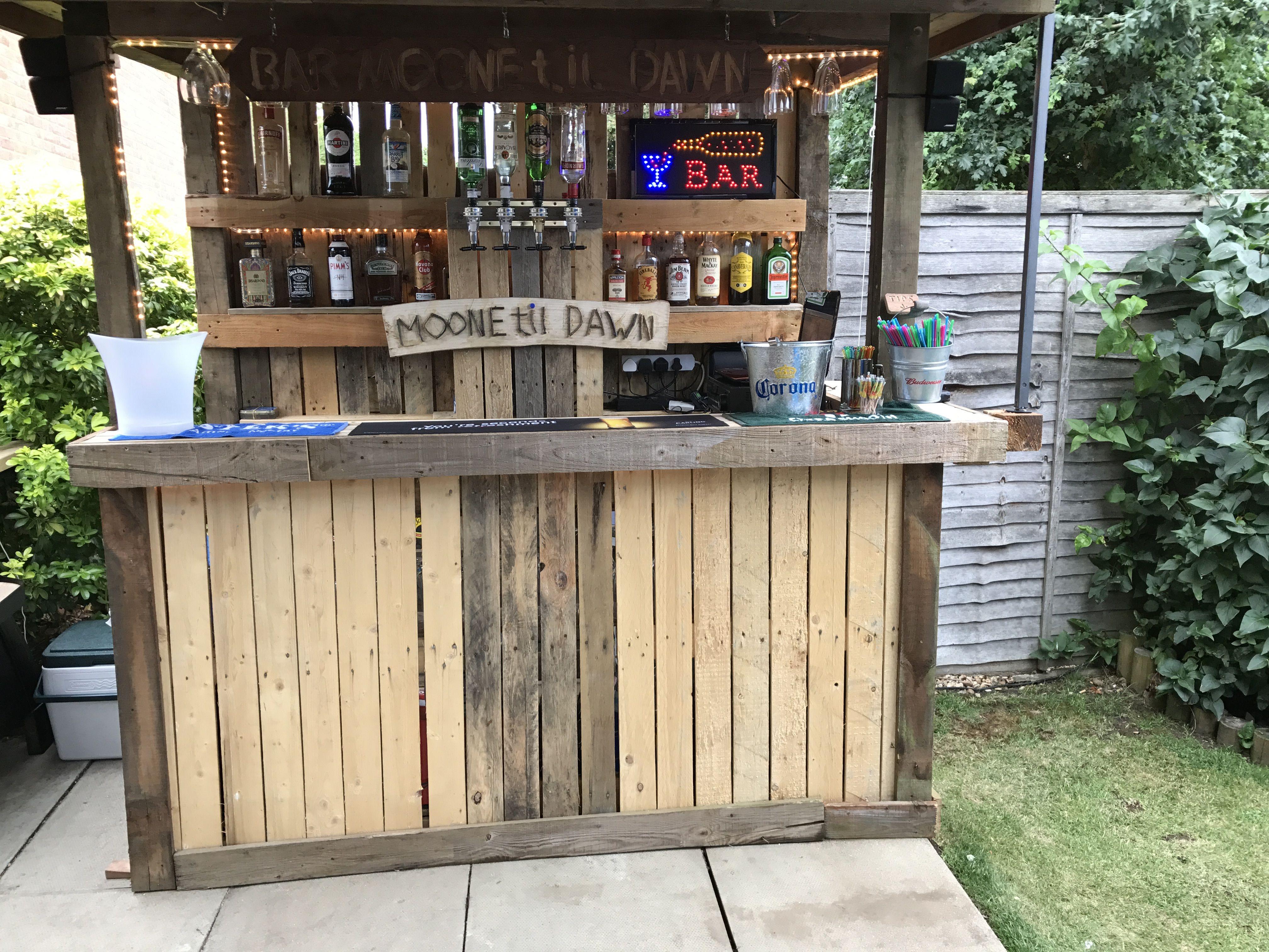 Pallet Bar Backyard Bar Diy Outdoor Bar Outdoor Pallet Bar