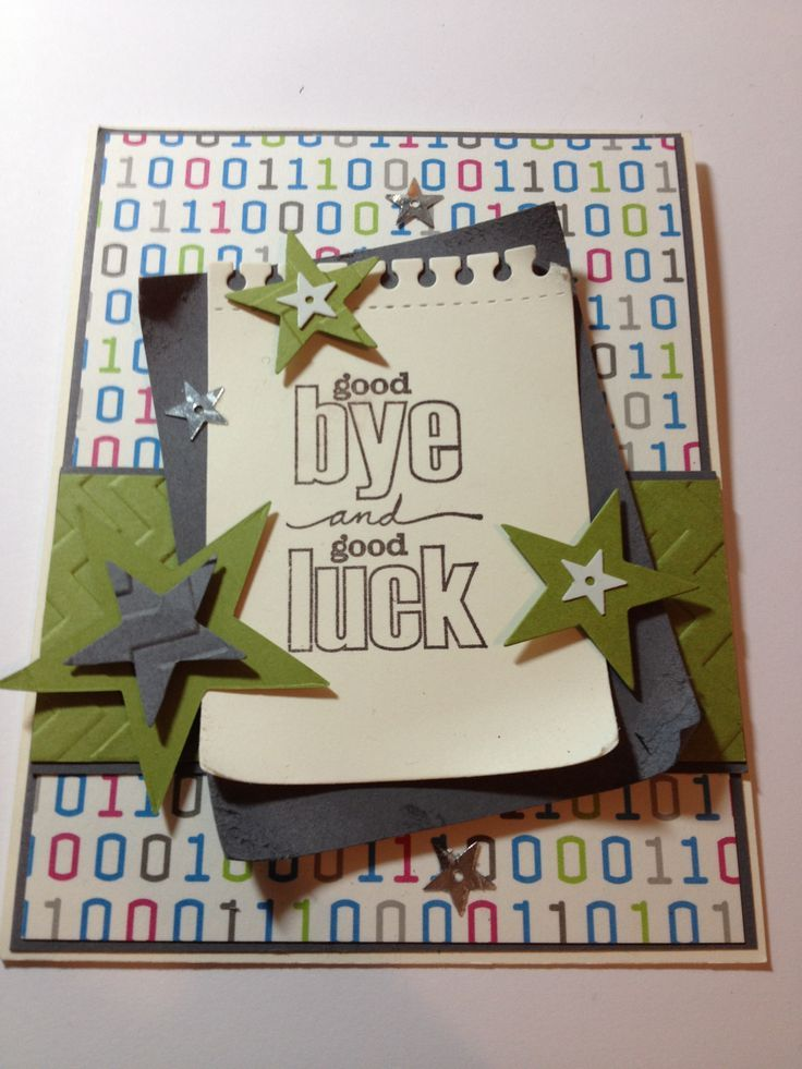 Farewell How 2 Make It Farewell Cards Card Design Handmade Goodbye Cards