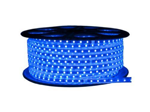 Cbconcept 120vsmd3528 50m B 120 Volt Smd3528 Flexible Flat Led Strip Rope Light 165 Feet Spool Blue By Cb Led Rope Lights Led Strip Lighting Strip Lighting