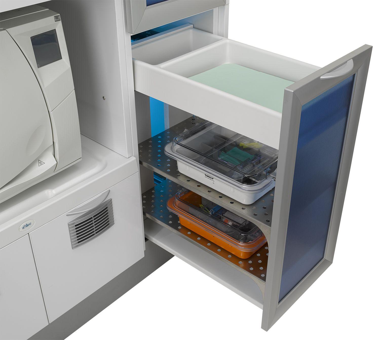 A Dec Inspire Sterilization Center The Pullout Storage
