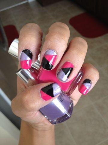 Color Block Nails (Tutorial)