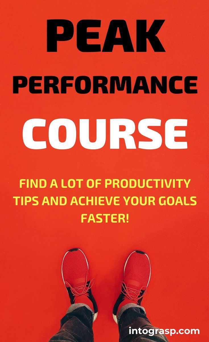 Peak Performance Strategies Course …