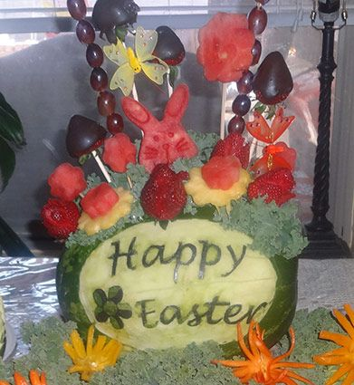 Another of Janette's Easter fruit carving decorations
