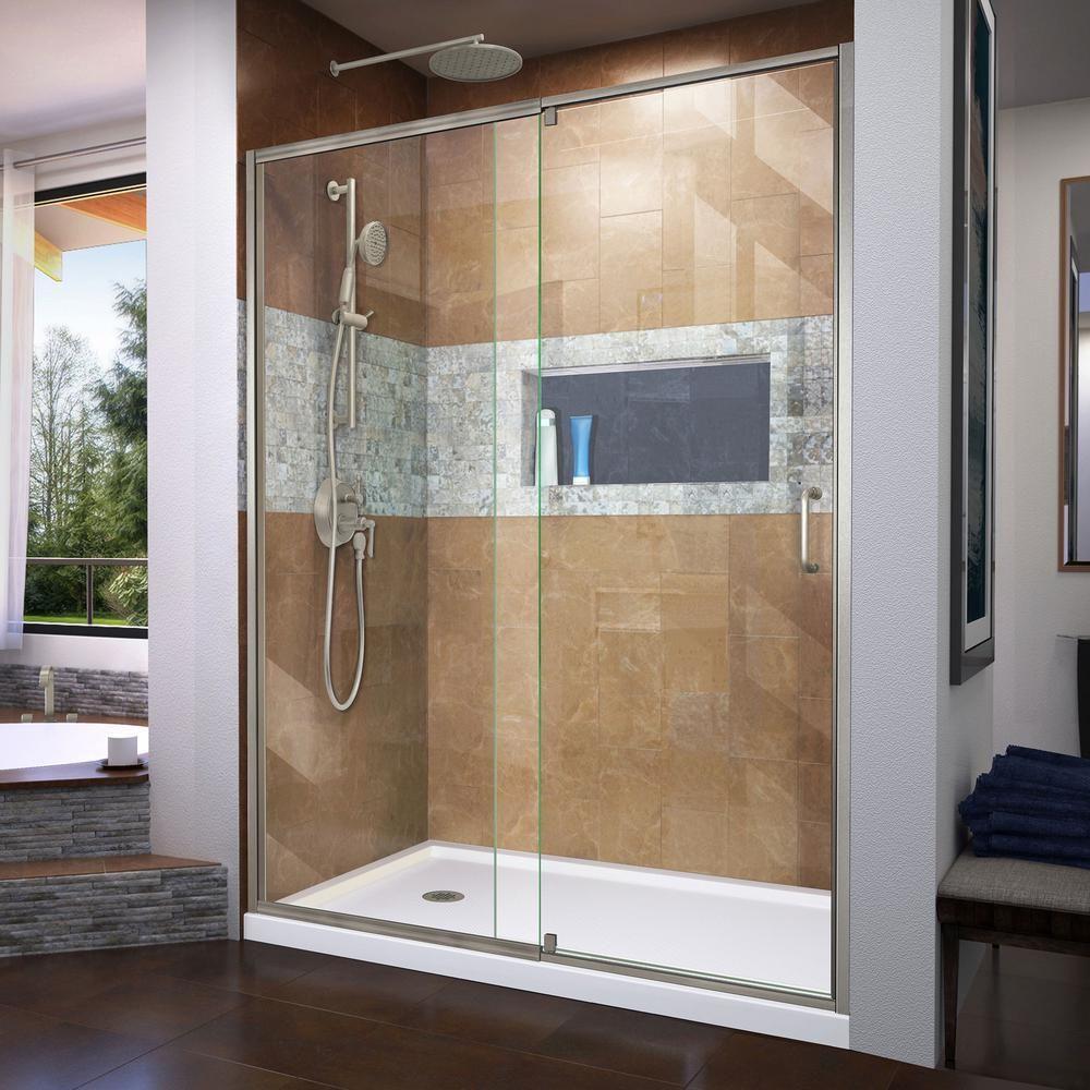 Dreamline Allure Frameless Pivot Shower Door And Slimline 30 In