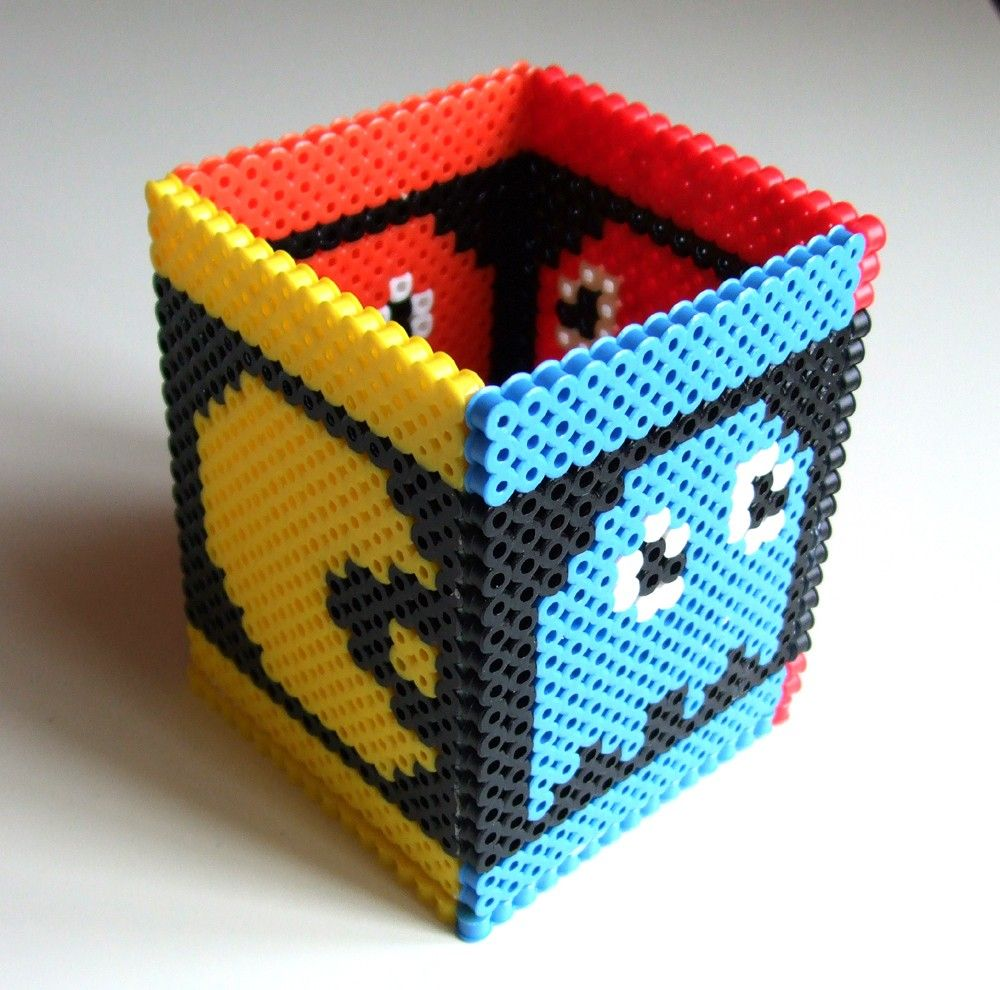 pacman pen holder or toothbrush holder nintendo atari arcade pacman pen holder or toothbrush holder nintendo atari arcade perler bead box