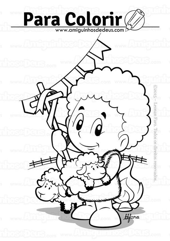 são joão batista desenho para colorir | Santos Populares | Pinterest
