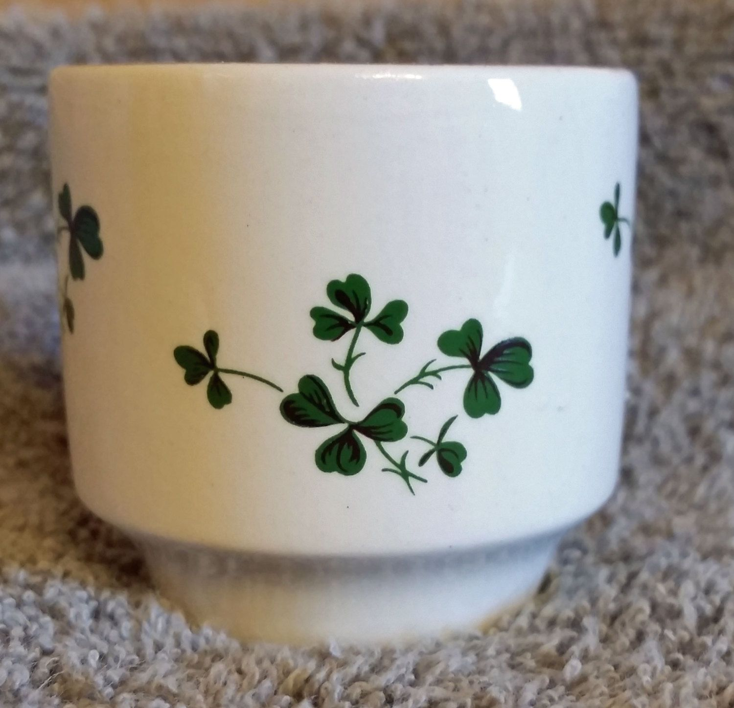 Carrigaline Pottery Shamrock Egg Cup By Leftysgoodies On