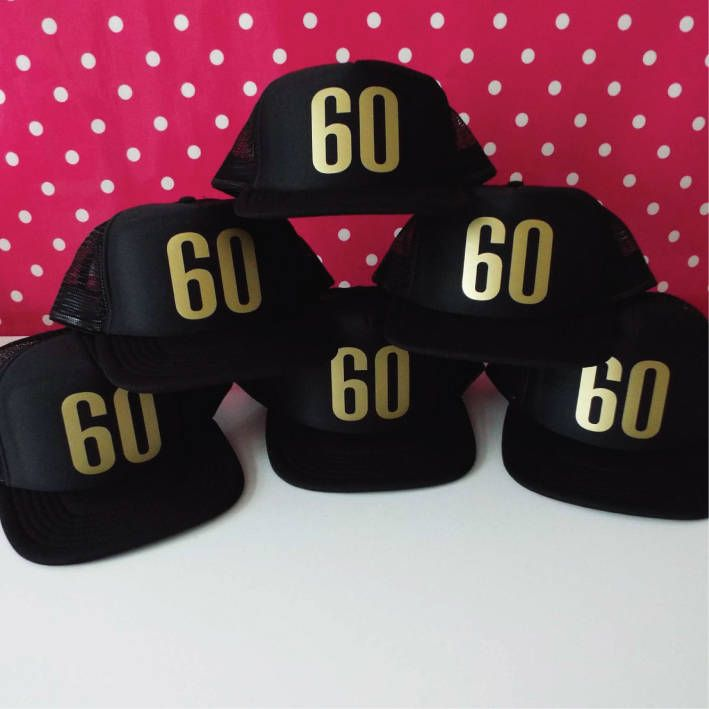 Birthday Party Hats 18th 21st 40th 50th 60th Hat Trucker Choose Any Age By SoPinkUK On Etsy