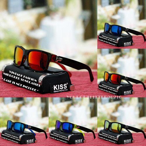 Sport Fashion Square Sunglasses Driving Biker Style Mirror Shade Black Mens New