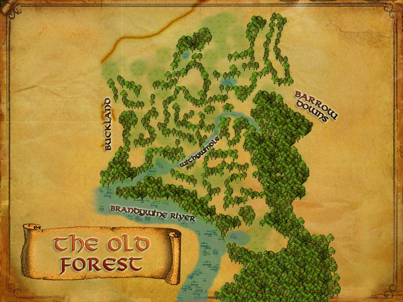 LOTRO map of the Old Forest LOTRO