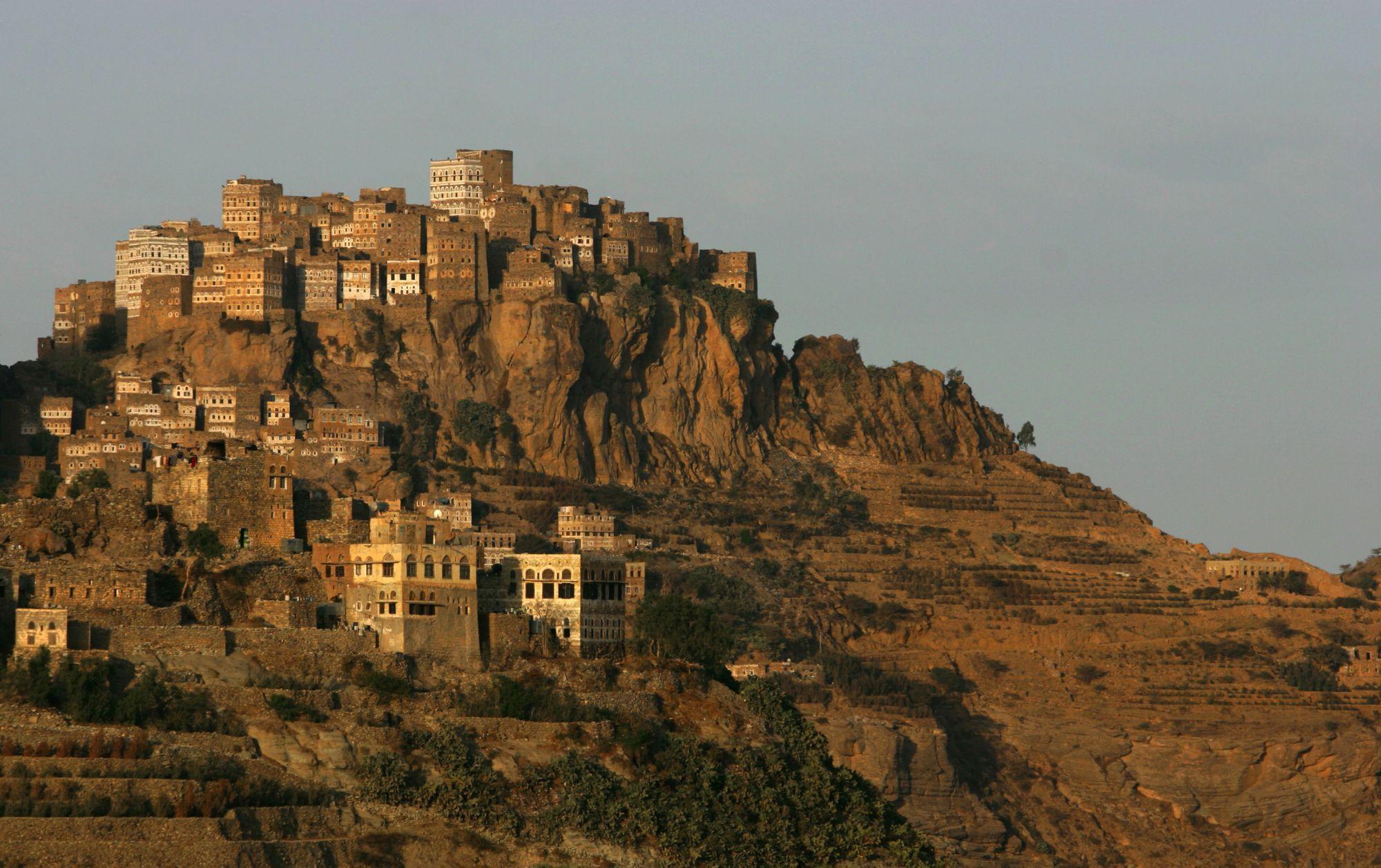 Al Hajjara (Iêmen) - Fundada no século 12 pelo sulaihids, esta localidade tornou-se uma fortificação... - Shutterstock