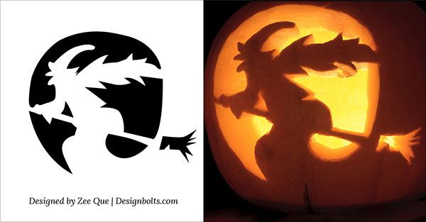 8-Witch-Scary-Pumpkin-Carving-Stencils-patterns-ideas-2015 ...
