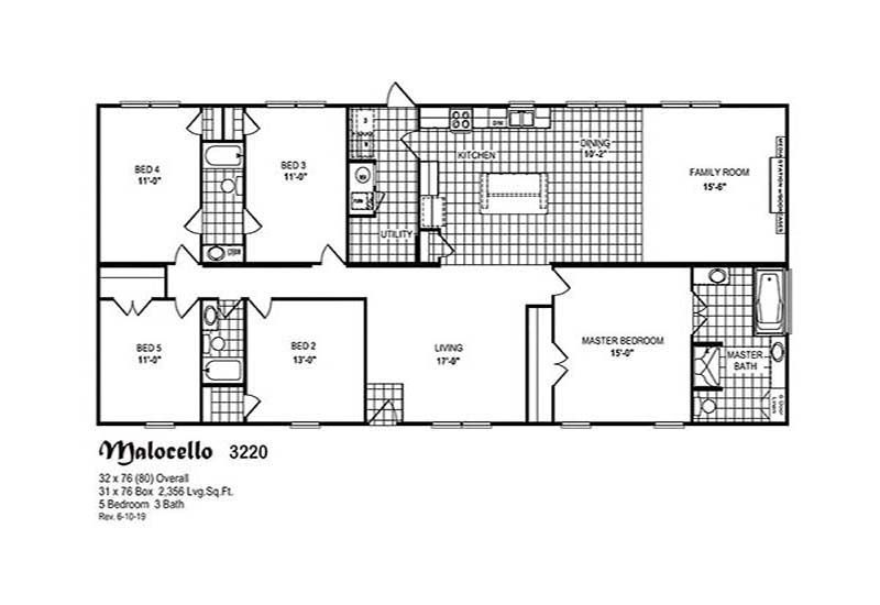 Malacello 5 Bedroom 3 Bathroom Mobile Home For Sale Mobile Home Floor Plans Modular Home Plans Mobile Home