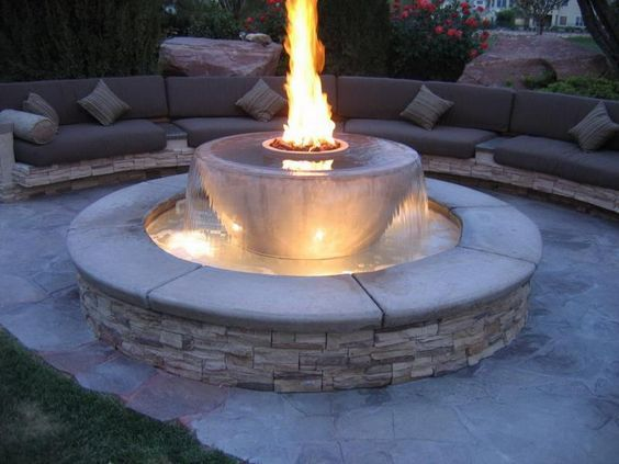 How To Build Outdoor Propane Fire Pit And Fountain Design