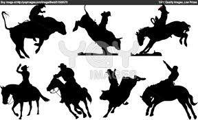 bucking bulls silhouette - Google Search | Sanatsal, Kovboylar