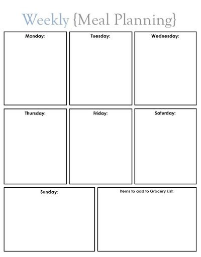 Meal Planning - Blissfully Ever After Ideas I Love Pinterest - meal calendar
