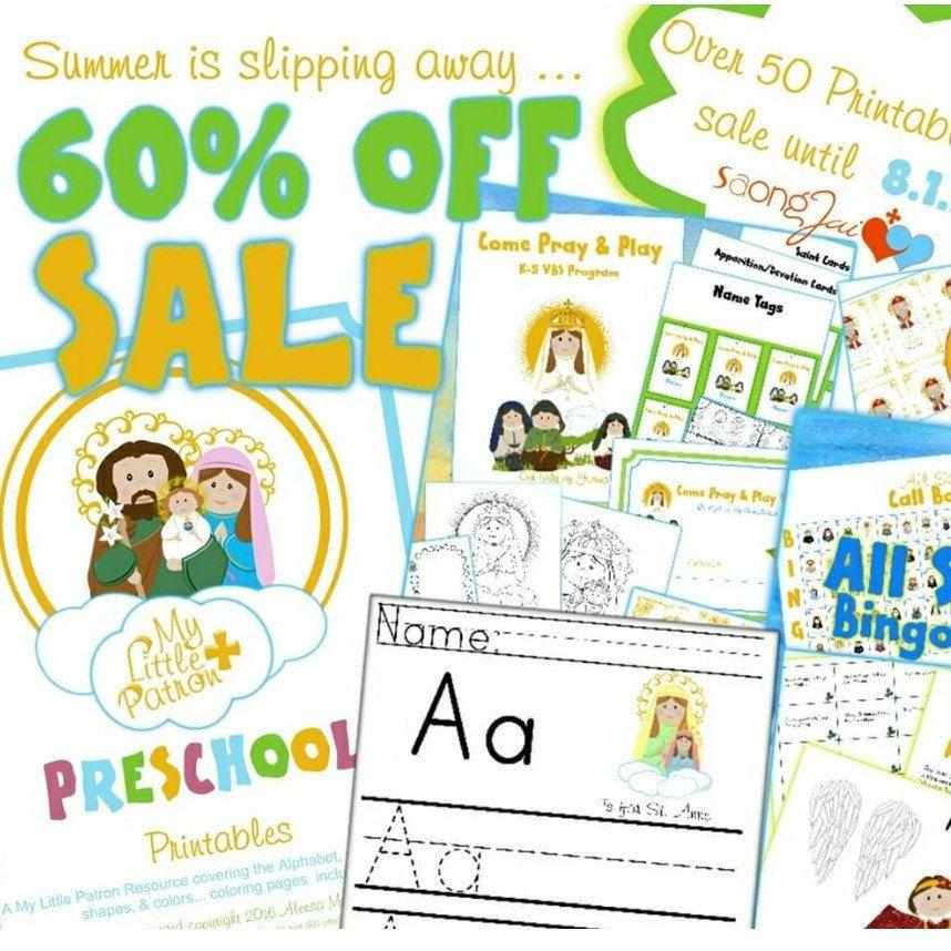 Catholic Preschool Printables Awestruck