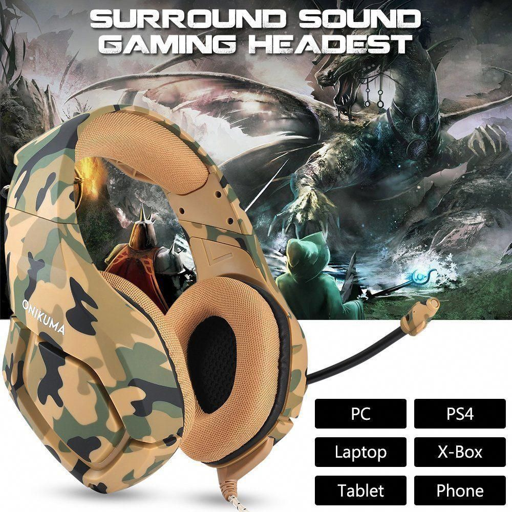 a9ef043a01b ONIKUMA K1 Stereo Bass Surround Gaming Headset for PS4 New Xbox One PC with  Mic #bestwirelessgamingheadset