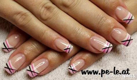 pink line in 2020  work nails nail tip designs clear