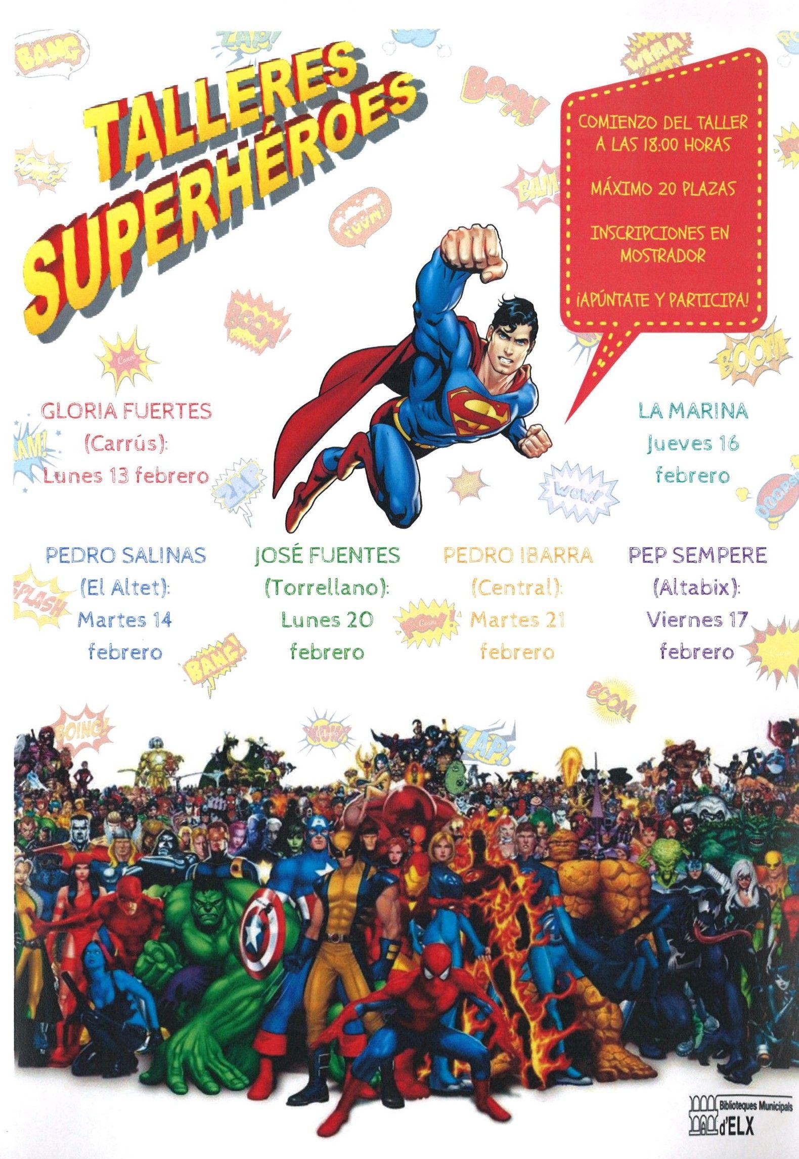 Este carnaval las bibliotecas infantiles invitan a los más pequeños a usar su imaginación en un divertido taller de superhéroes. Consulta la Guía de Lectura  https://drive.google.com/file/d/0B94WDy-s4ERBc2ptR0k2cTYwNE0/view?usp=sharing