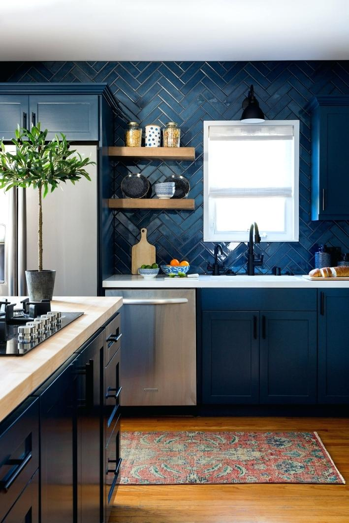 pictures of blue kitchen cabinets crazy about this deep moody blue cabinets top kitchen on kitchen cabinets blue id=45208
