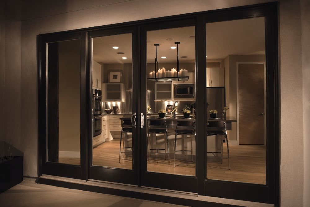 Large Patio Doors with Black Frame Outdoor Designing Pinterest