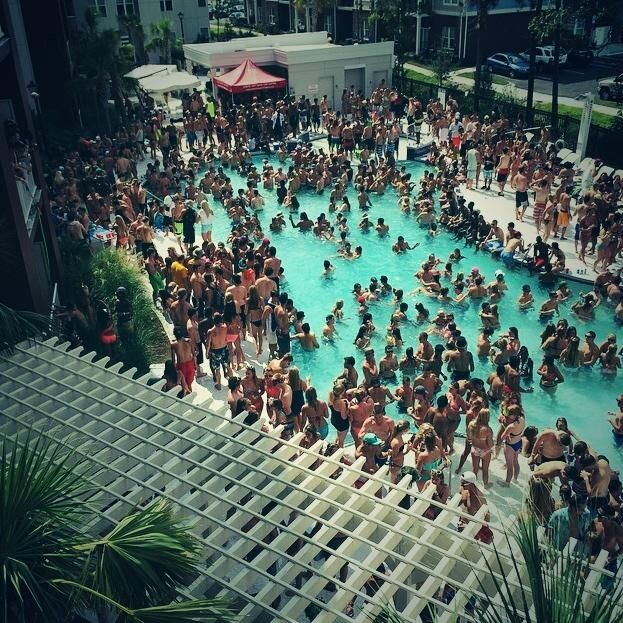 University Of Tampa Pool Party