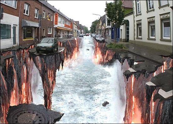 amazing 3d street art wallpaper 3d street optical illusion 056